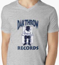 Dak Throw Records Mens V-Neck T-Shirt