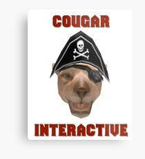Cougar Interactive Metal Print