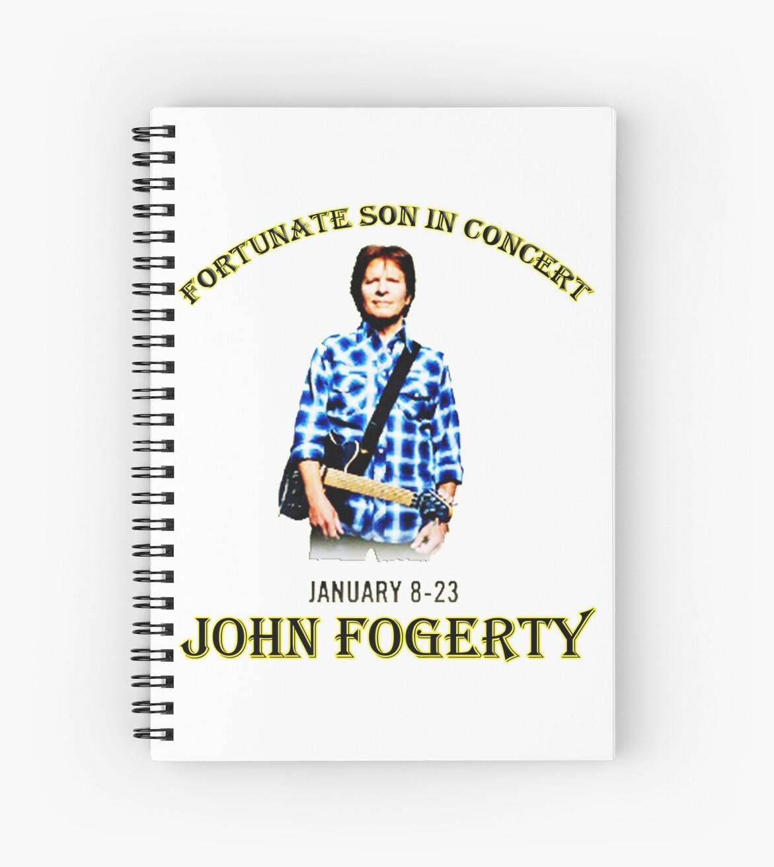 john fogerty tour 2016 2017 spiral notebooks by boboibot redbubble. Black Bedroom Furniture Sets. Home Design Ideas