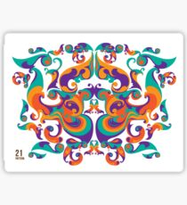 symmetrical vector colorful pattern Sticker