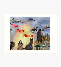 The Zoo Race Rides Art Print