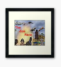 The Zoo Race Rides Framed Print