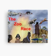 The Zoo Race Rides Canvas Print
