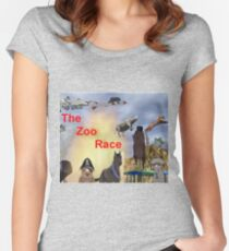 The Zoo Race Rides Women's Fitted Scoop T-Shirt