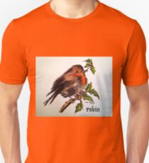 Christmas Robin. Elizabeth Moore Golding© Unisex T-Shirt