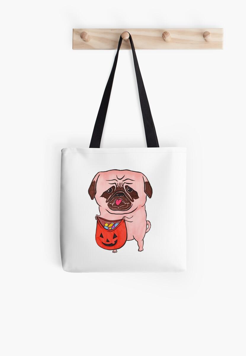 Trick or Treat Sad Pug by Edgardo George