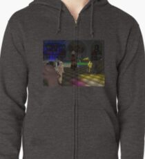 The Zoo Race dance floor Zipped Hoodie