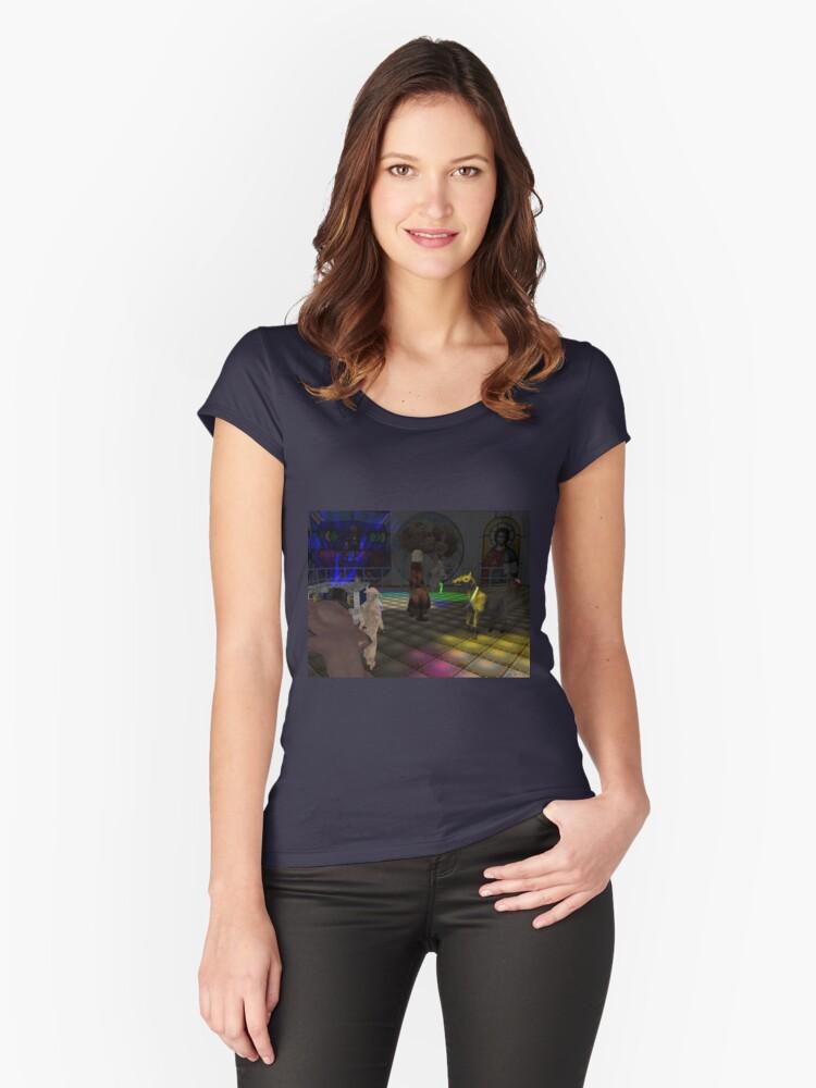 The Zoo Race dance floor Women's Fitted Scoop T-Shirt Front