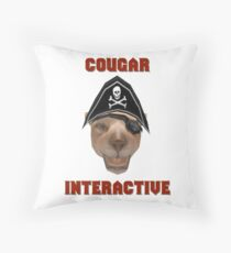 Cougar Interactive Throw Pillow
