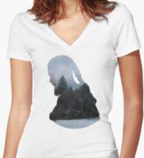 Ragnar Lothbrok - Vikings Women's Fitted V-Neck T-Shirt