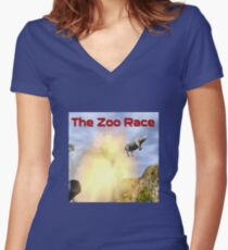 The Zoo Race Cannon Women's Fitted V-Neck T-Shirt
