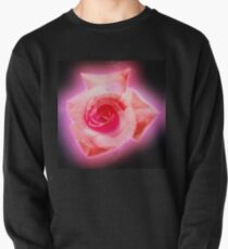 Digitally enhanced orange rose flower with green foliage background  Pullover
