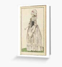 Journal of Luxury and Fashion Friedrich Justin Bertuch  Greeting Card