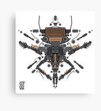 guitar robot character design Canvas Print