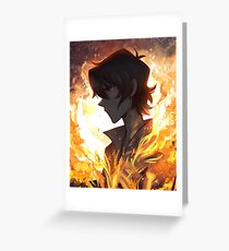Burning in My Bones Greeting Card