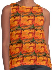 Abstract Colored Worms Design Contrast Tank