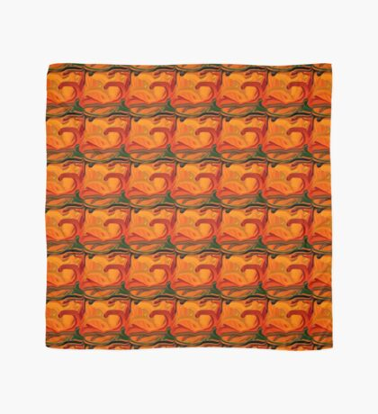 Abstract Colored Worms Design Scarf