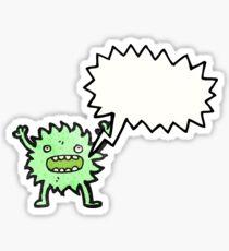 furry green creature with speech bubble Sticker