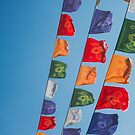 Mongolian Ovoo Flags by emmawind