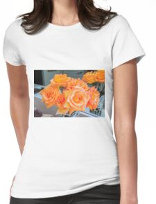 Orange roses bouquet  Womens Fitted T-Shirt