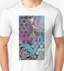 Purple roses abstract print T-Shirt