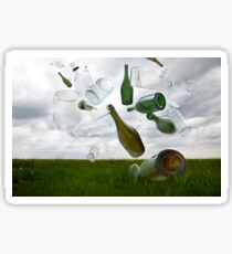 Glass Recycling Sticker