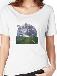 Parallax Great Wall From Space Women's Relaxed Fit T-Shirt