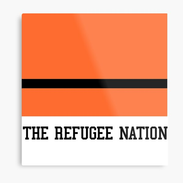 The Refugee Nation Flag Metal Print