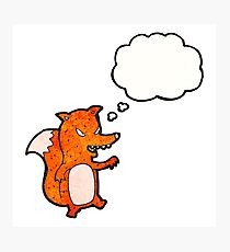 cartoon sly fox Photographic Print
