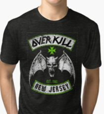 Overkill skull bat Tri-blend T-Shirt