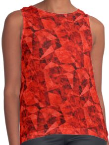 Bright Red Cubes Geometric Design Contrast Tank