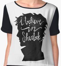 I Believe in Sherlock Women's Chiffon Top