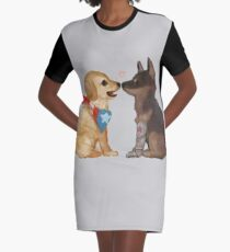 Cap & Bucky Graphic T-Shirt Dress