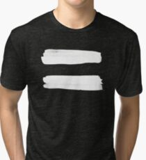 Equality Paint White Tri-blend T-Shirt