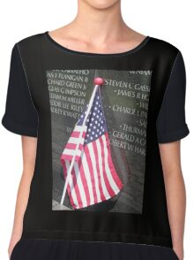 Flag For Fallen Soldier Chiffon Top