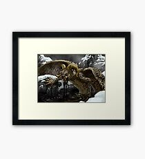 Black Oil Framed Print