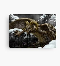 Black Oil Canvas Print