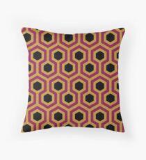 Purple Black Gold Hexagon Pattern Throw Pillow