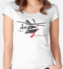 AgustaWestland AW169 Women's Fitted Scoop T-Shirt