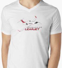 Learjet Men's V-Neck T-Shirt
