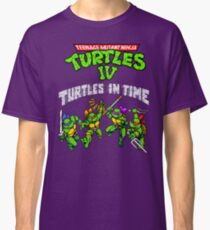 TMNT Turtles In Time (SNES) Classic T-Shirt