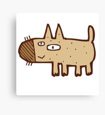 Little funny cartoon dog Canvas Print