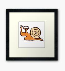 Cute funny cartoon snail Framed Print