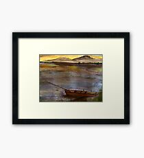 Canoe at Sunset Framed Print