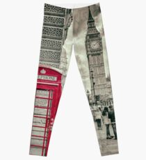 London Telephone Box Leggings