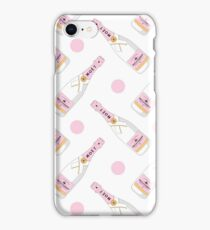 Cute pink pattern with MOET champagne for girls iPhone Case/Skin