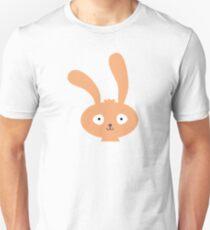 Funny cartoon bunny smiling Unisex T-Shirt