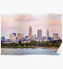 Downtown Cleveland Ohio Skyline Poster