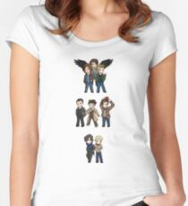 Superwholock Chibis Women's Fitted Scoop T-Shirt