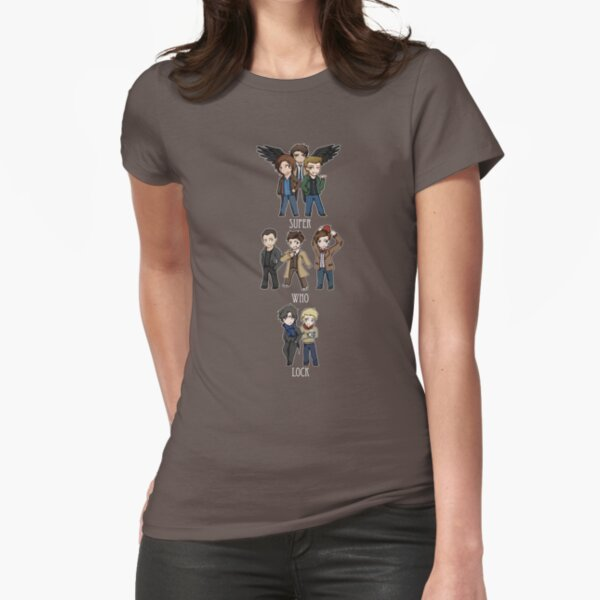 Superwholock Chibis Fitted T-Shirt